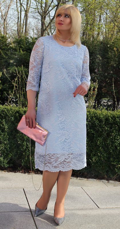 79a769b402927f Sukienka koronkowa błękitna – Oscarfashion